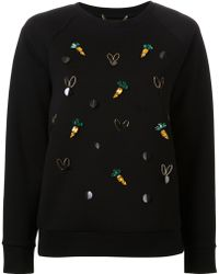 MUVEIL - Embellished Sweatshirt - Lyst