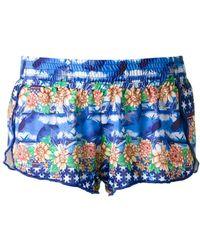 Blue Man - Printed Shorts - Lyst