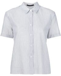 Jenni Kayne - Short Sleeved Striped Shirt - Lyst