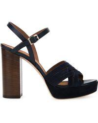 Scanlan Theodore - Cross Front Platform Sandals - Lyst