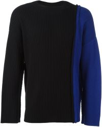 Liam Hodges - Two-tone Knit Jumper - Lyst