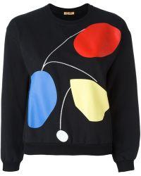 Peter Jensen - Cropped Art Sweatshirt - Lyst