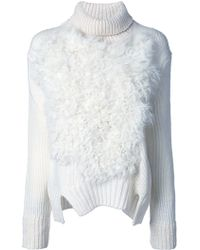 Jay Ahr Roll Neck Pullover - White