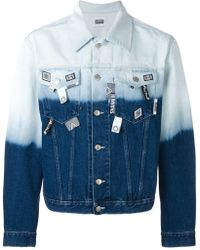 Christopher Shannon Dip-dyed Denim Jacket - Blue