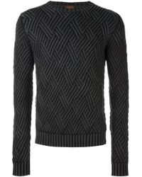 Tod's Diamond Knit Sweater - Gray