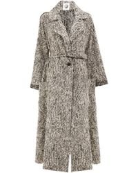 Aganovich - Patch Pockets Belted Coat - Lyst