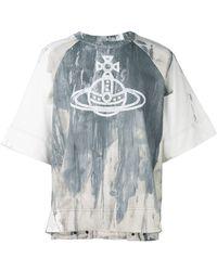 Vivienne Westwood Anglomania - Logo Print Shortsleeved Sweatshirt - Lyst