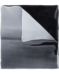 Yohji Yamamoto - Printed Silk Scarf - Lyst