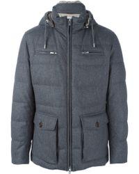 Brunello Cucinelli Hooded Coat - Grey