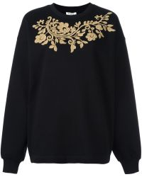 P.A.R.O.S.H. - - Gold-tone Embroidery Sweatshirt - Women - Cotton - S - Lyst