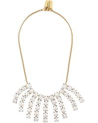 Erika Cavallini Semi Couture - Embellished Pendant Necklace - Lyst