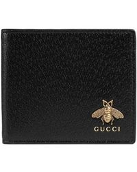 Gucci - Animalier Leather Wallet - Lyst