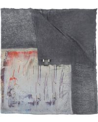Avant Toi - Abstract Print Scarf - Lyst