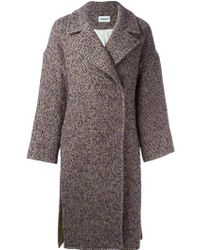 Cacharel - Single Breasted Tweed Coat - Lyst