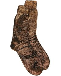 Ann Demeulemeester 'laine' Socks - Metallic