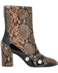 N°21 Snakeskin-effect Boots - Brown