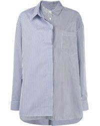 Juun.J Long Sleeved Cotton Shirt - Blue