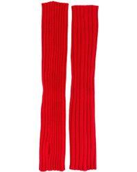Erika Cavallini Semi Couture - Ribbed Fingerless Gloves - Lyst