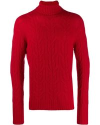 Drumohr Roll-neck fitted sweater - Rojo
