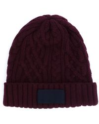 Sacai - Cable Knit Beanie - Lyst