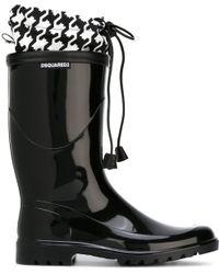 DSquared² 'babe Wire' Insert Rain Boots - Black