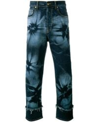 James Long - Hibiscus Print Jeans - Lyst