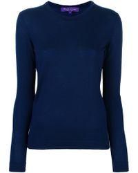 Ralph Lauren Purple Label Fine Knit Sweater - Blue