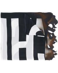 Moschino - Burned Effect Logo Scarf - Lyst