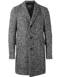 Tod's Herringbone Coat - Black