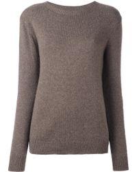 Ralph Lauren Purple Label Crew Neck Sweater - Brown