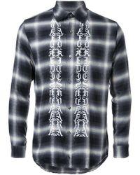 Christian Dada - 'symbols' Print Plaid Shirt - Lyst