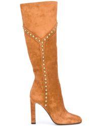 Saint Laurent 'grace 105' Y Studded Boots - Multicolor