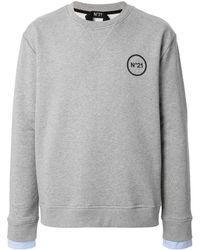 N°21 Logo-print Sweatshirt - Grey