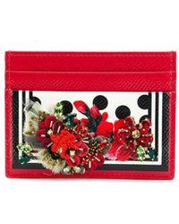 Dolce & Gabbana カードケース - レッド