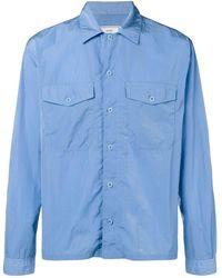 AMI Camp Collar Overshirt - Blauw