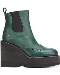 Sacai - Platform Wedge Boots - Lyst
