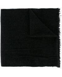 Woolrich - Logo Plaque Knit Scarf - Lyst