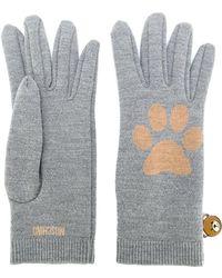 Moschino - Paw Intarsia Gloves - Lyst