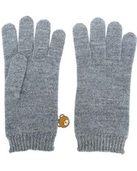 Moschino - Bear Engraved Gloves - Lyst