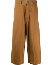 Societe Anonyme High Rise Cropped Trousers - Brown