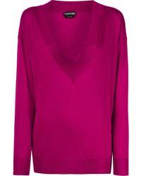 Tom Ford Deep V-neck Sweater - Pink