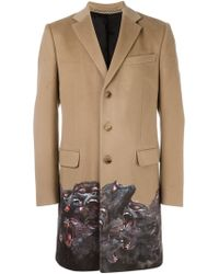 Givenchy - Monkey Brothers Contrast Trim Coat - Lyst