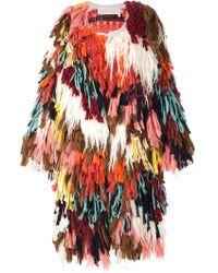 Chloé Chloé Shaggy Knit Coat - Multicolor