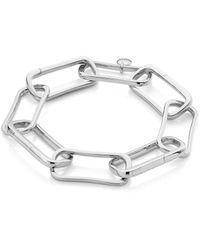 Monica Vinader Alta Capture Large Link Charm Bracelet - Metallic