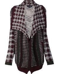 Yigal Azrouël - Multi Knit Cardi-coat - Lyst