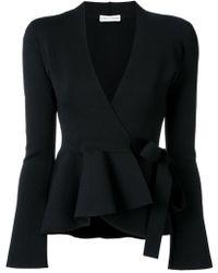 Scanlan Theodore - Crepe Knit Wrap Jacket - Lyst