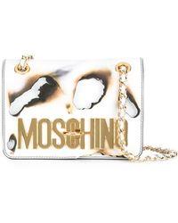 Moschino - Burned Effect Shoulder Bag - Lyst