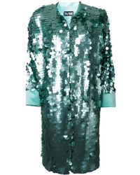 Dalood - Loose Fit Sequined Coat - Lyst