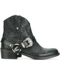 HTC Hollywood Trading Company Buckled Cowboy Boots