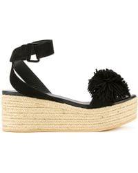 MUVEIL - Pom Pom Platform Sandals - Lyst